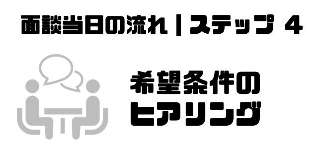 転職エージェント_面談_服装_希望条件