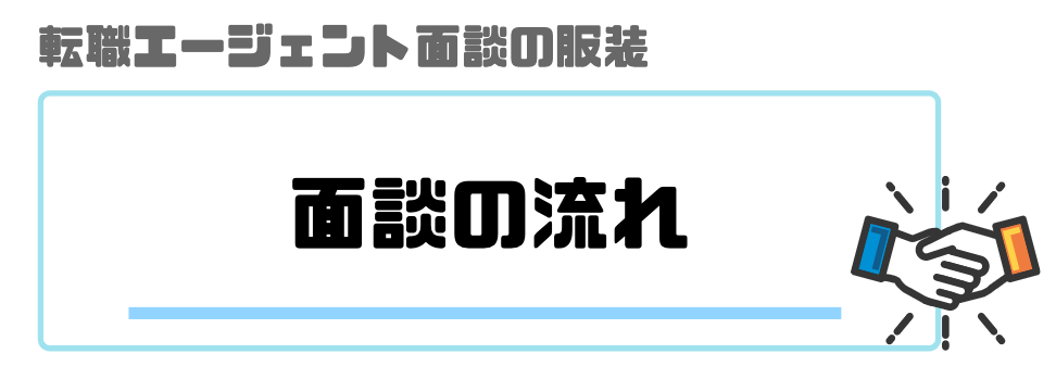 転職エージェント_面談_服装_流れ