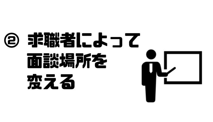 転職エージェント_裏事情_求職者_面談場所変える