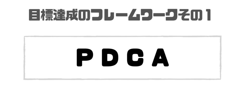 フレームワーク_目標達成_PDCA